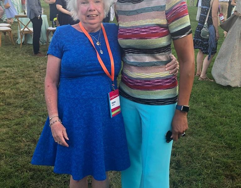 Elaine Carney with Robin Roberts