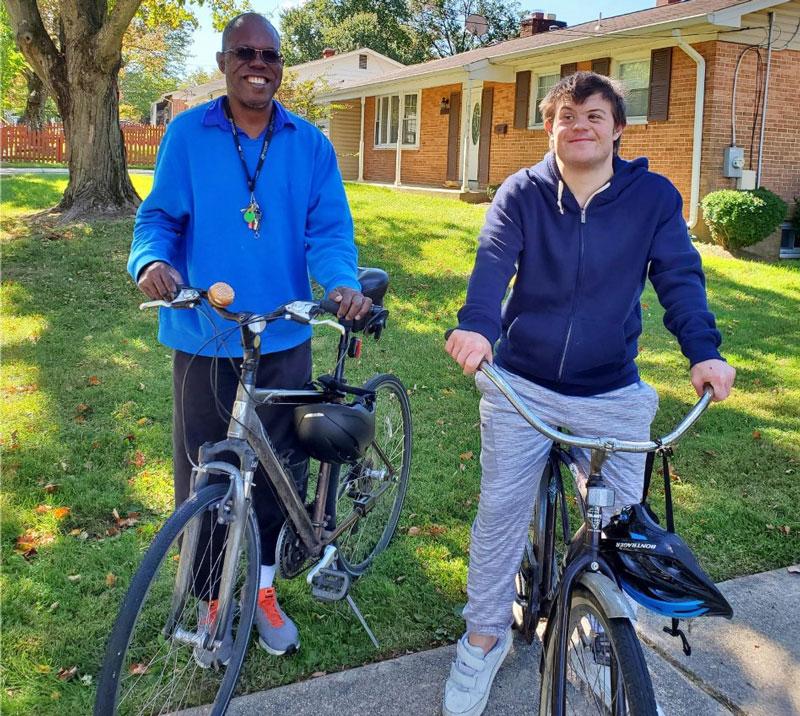 Curtis Cooper and Jordon Gould Biking