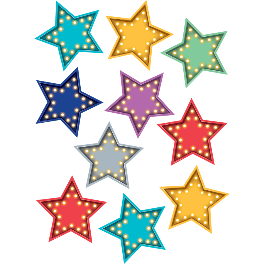 paper cut-out stars