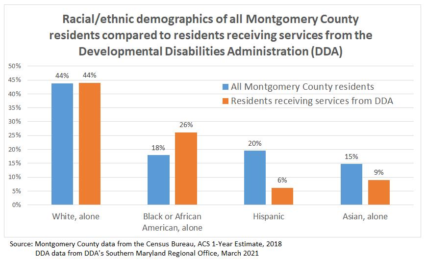 DDA services by racial demographic